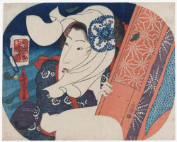 Утагава Кунисада. Очищающая погода, из серии «Восемь видов красавиц»