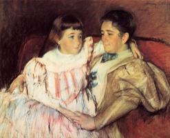 Мэри Кассат. Портрет миссис Хевмейер и ее дочери Электры