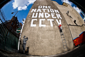 Banksy. A single nation under video surveillance