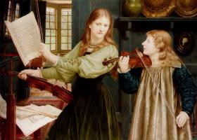 Генри Холидей. Урок музыки