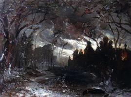 Алексей Кондратьевич Саврасов. Ипатьевский монастырь в зимнюю ночь