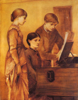 Edward Coley Burne-Jones. Group portrait of the artist's family: Lady Burne-Jones with her son Philip and daughter Margaret
