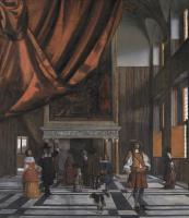 Питер де Хох. Интерьер палаты Совета Амстердамской ратуши