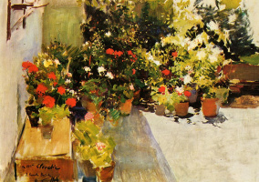 Joaquín Sorolla. Roof with flowers