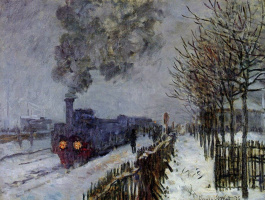 Claude Monet. Train in the snow (the locomotive)