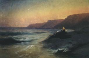 Ivan Aivazovsky. Pushkin on coast of Black sea
