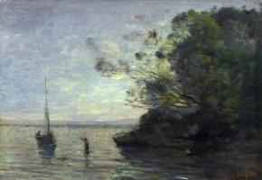 Камиль Коро. Вечер у озера