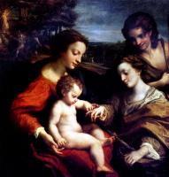 Антонио Корреджо. Обручение Святой Екатерины в присутствии Святого Себастьяна