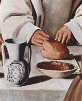 Франсиско де Сурбаран. Цикл картин для каретзианского монастыря. Св. Гуго в картезианском монастыре. Фрагмент