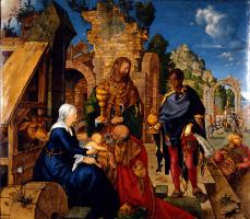 Albrecht Dürer. The adoration of the Magi