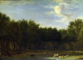 Адриан ван де Вельде. Опушке леса