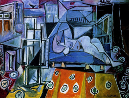 Pablo Picasso. Nude in the artist's Studio