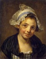 Жан-Батист Грёз. Голова девушки в чепце