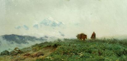 Антон Иванович Кандауров. Горный пейзаж