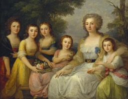 Portrait of Countess A. S. Protassova with nieces