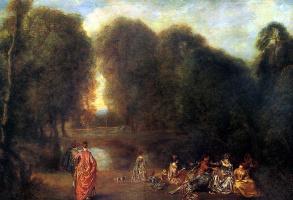 Антуан Ватто. Общество в парке