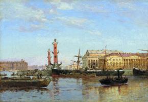 Александр Карлович Беггров. Петербург со стороны Невы. 1899