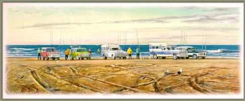 Уильям Мангам. Машины на берегу
