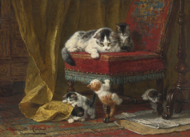 Генриетта Роннер-Книп. Кошка с котятами