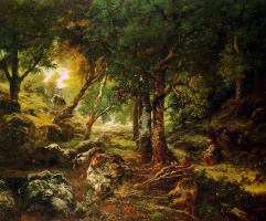 Теодор Руссо. Лесной пейзаж