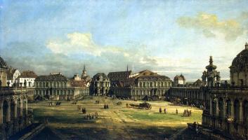 Бернардо Беллотто. Цвингер в Дрездене