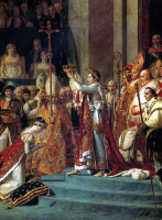 Jacques-Louis David. The coronation of the Emperor Napoleon I and coronation of Empress Josephine in Notre-Dame de Paris, 2 December 1804. Fragment. The Coronation Of Josephine