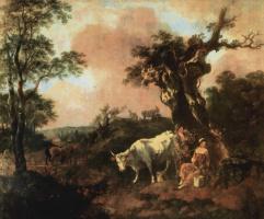 Томас Гейнсборо. Лесоруб, флиртующий с пастушкой