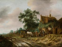 Изак ван Остаде. Дорога у постоялого двора