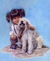 Пенни Энн Кросс. Ребенок с собакой