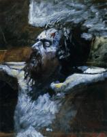 Николай Николаевич Ге. Голова распятого Христа. Подготовительный этюд для картины «Распятие»