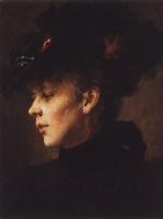 Николай Васильевич Неврев. Портрет неизвестной. 1900