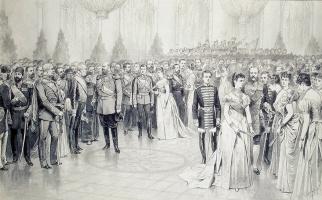 Карл Осипович Брож. Придворный бал в Николаевском зале Зимнего дворца