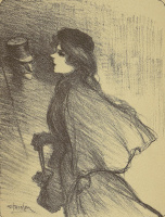 """Theophile-Alexander Steinlen. To the song """"Your nose"""". Illustration to the book by P. Delmas, """"Female songs"""""""