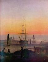 Каспар Давид Фридрих. Корабли в гавани Грайфсвальда
