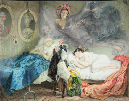 Карл Павлович Брюллов. Сон бабушки и внучки