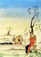 """Кей Нильсен. Иллюстрация к сказке """"Вишня, или лягушка Невеста"""" братьев Гримм"""