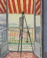 Альбер Марке. Балкон под полосатым навесом
