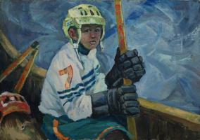 Сергей Александрович Куклин. Юный хокеист
