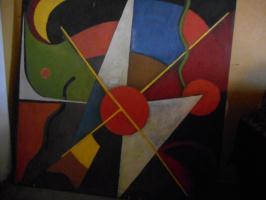 Nino Archilovna Givishvili. Абстрактная композиция.