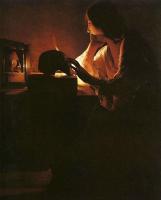 Жорж де Латур. Женщина у зеркала