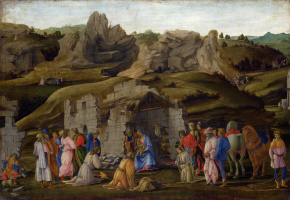 Filippino Lippi. The adoration of the Magi