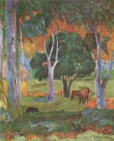 Поль Гоген. Пейзаж на острове Доминик