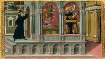 Маттео ди Джованни. Видение Св. Августина о Св. Иерониме и Иоанне Крестителе