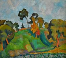 Robert Rafailovich Falk. Evening landscape