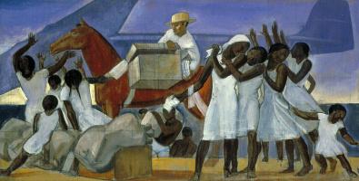 Рокуэлл Кент. Почтовая служба в тропиках. Эскиз для росписи стен почтового отделения Вашингтона