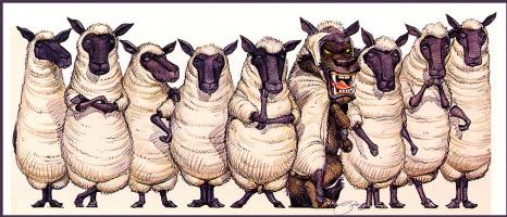 Билл Майер. Волк и овцы
