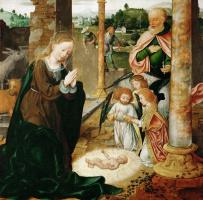 Йос ван Клеве. Рождество Христово.  около 1520