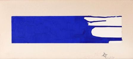 Yves Klein. Monochrome blue 16