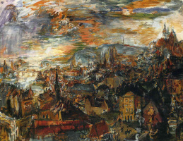 Oskar Kokoschka. View Of Prague