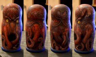 Ivan Andreevich Kacherin. Matreshka-octopus (Cthulhu)